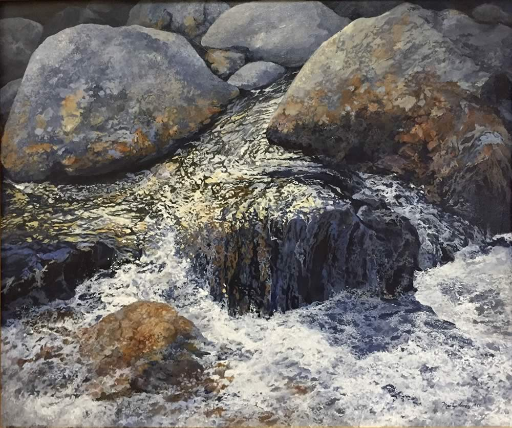 Water on Rocks by Marilyn Corey